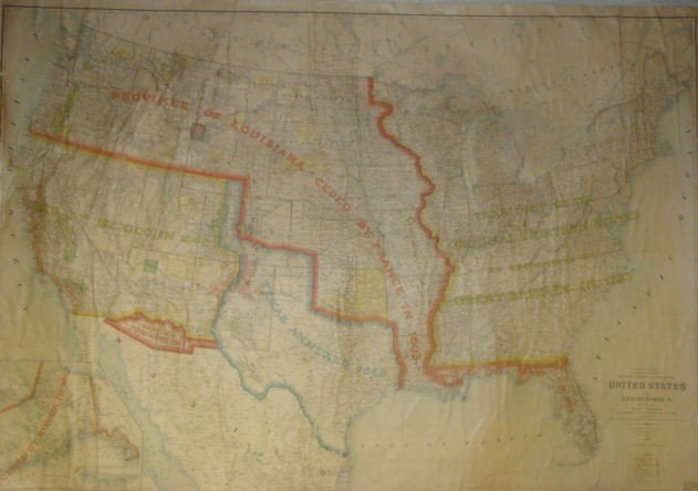 1: 1896 Map of the United States.
