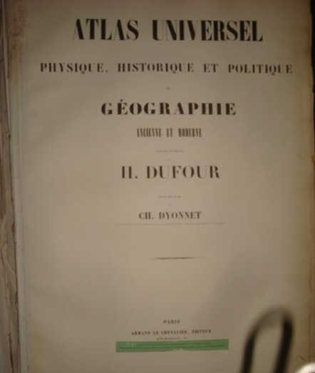 """5: 1863 French Atlas """"Geographie Ancienne et Moderne"""""""