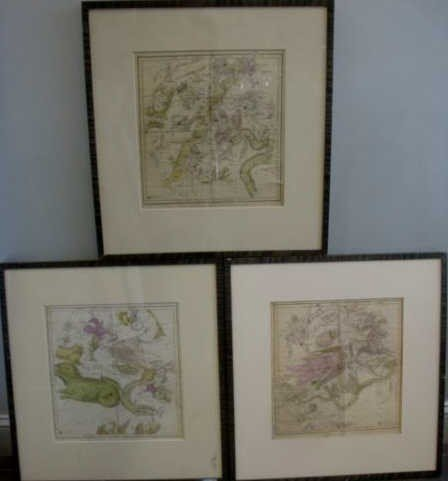 6: Three 1835 Hand Colored Celestial Maps. Engraved