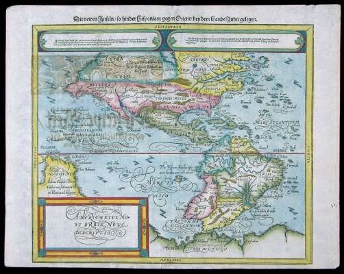 7: c.1600 Swiss Map of the Americas.