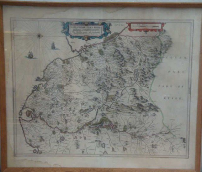 18: 1654 Map of Southwest Scotland by Willem Janszoon