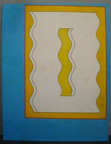22: CAMACHO, Paul. 1969 Modernist Oil on Canvas.