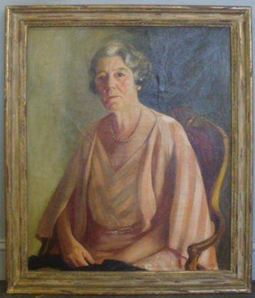 23: BROWNE, Margaret F. 1934 O/C Portrait of a Woman.
