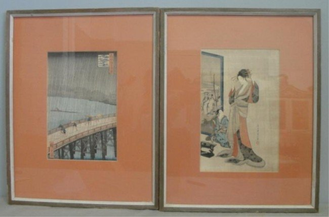 3: 2 Prints. After HIROSHIGE & Unknown.