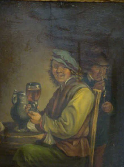 4: Unsigned (?) Oil on Panel Style of Jan Steen.