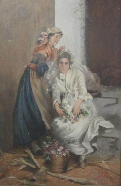 23: Signed 1910 O/C of a Bride.