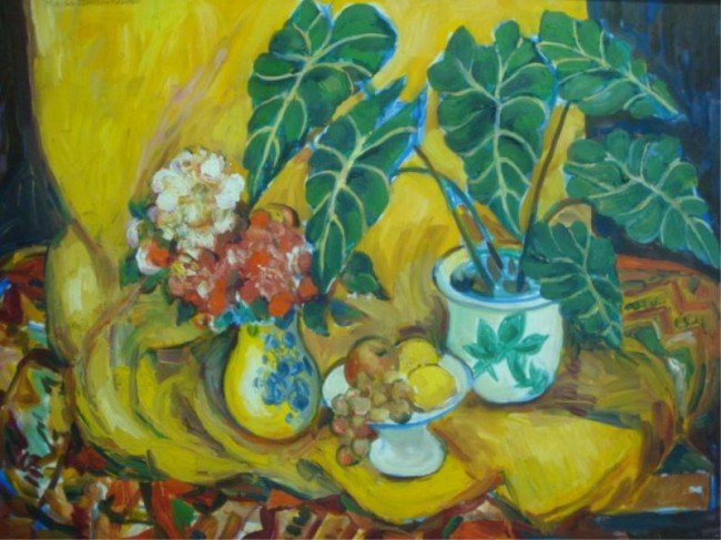 13: EICHTERHEIMER, Martin. O/C Still Life with Flowers