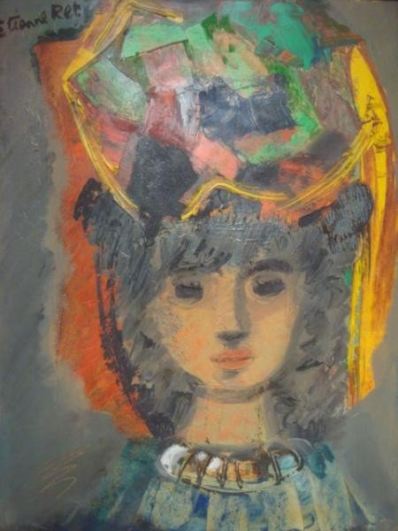 18: RET, Etienne. O/B of Woman in Colorful Hat