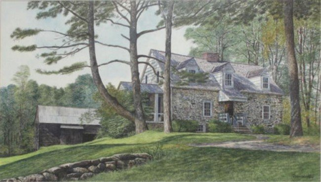 "4: DAVIDOFF, Michael. W/C  ""The Stone Cottage."""