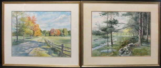 5: KIDDER, Harvey. 2 Watercolors.