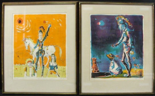 19: HOLLINGSWORTH,  Alvin Carl. Pair of Lithographs of