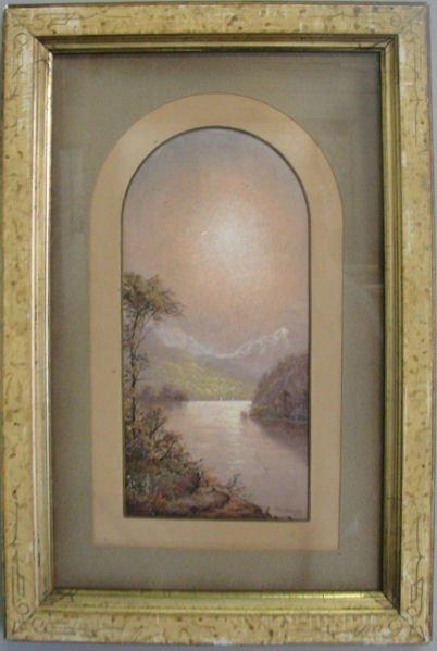 21: RIECKE, George. 1875 W/C Hudson River Scene.