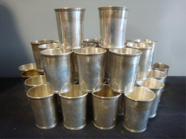 133: STERLING. Lot of 36 Stieff Mint Julep Cups.