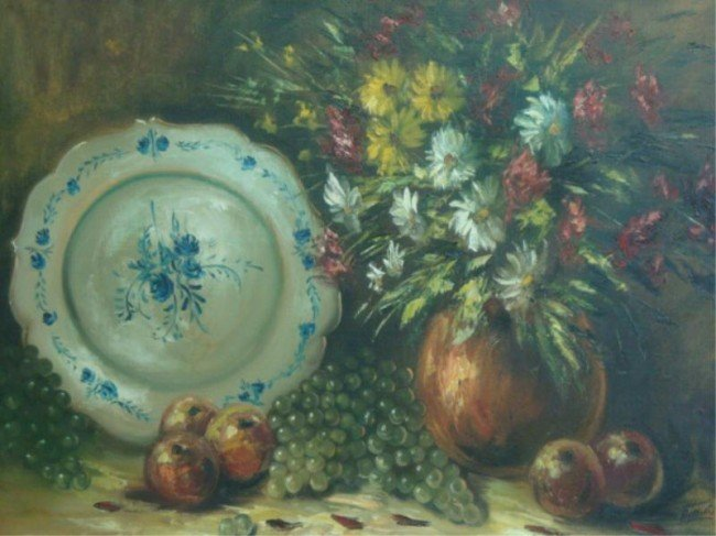 4: SMIDTS, H. O/C of Flowers, Fruit and Blue & White