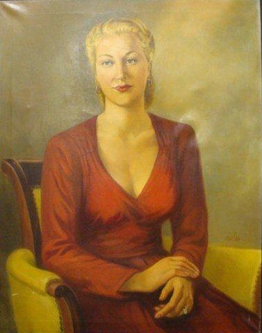 5: OSYCZKA, Bohdan D. 1949 O/C Portrait of a Blonde