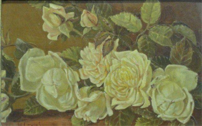 8: LEWINS, W. O/B White & Pink Blossoms.