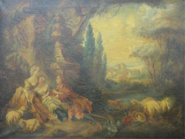 14: After Fragonard. Old Master Oil on Canvas.