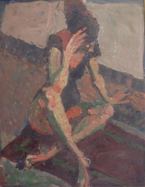 17: BEAUCE, Andre. O/C Nude with Crossed Legs.