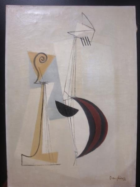 19: DAUPHIN, Raymond. O/C Style of Braque of Stringed