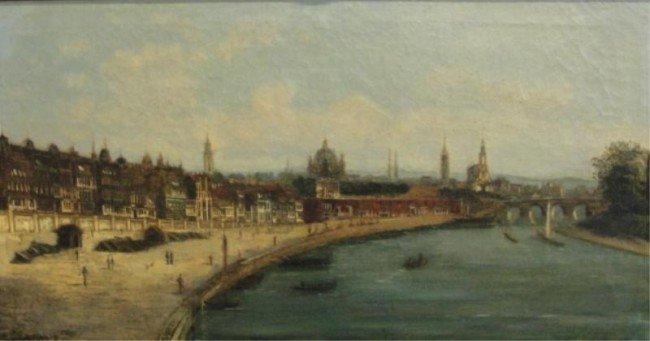 20: BLANCHARD, E? 1881 O/C City on a River