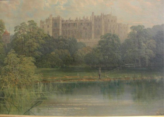 22: VICKERS, A. H. O/C Castle on River with Fisherman.
