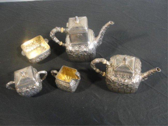 58: GORHAM STERLING. 5 Piece Tea/Coffee Set.