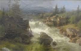 185 HERZOG Hermann OC River with Mill