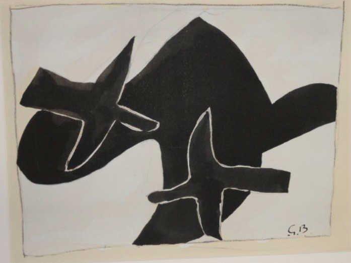 """BRAQUE, Georges. Print. """"Oiseaux de Folles"""""""