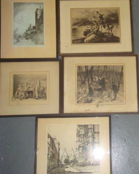 4: Box Lot 5 Signed Prints- John Costigan (2), Samuel