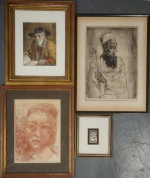 5: Lot of 4 Pieces Judaic Art - SCHATZ, Ernst OPPLER,