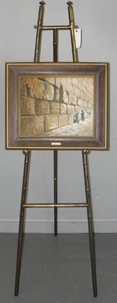9: MANOBLA. Oil on Jerusalem Stone. Wailing Wall.