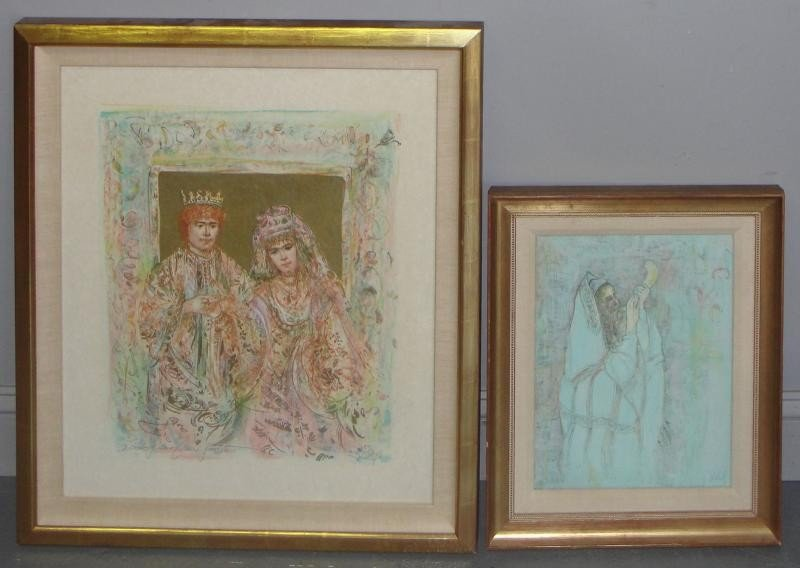 11: HIBEL, Edna. 2 Signed Lithographs 1 Hand Colored.