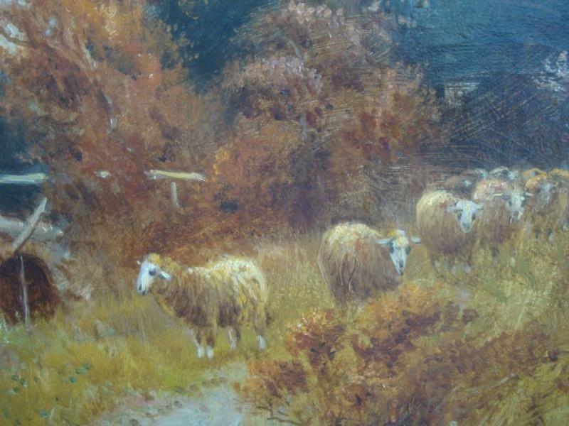 22: COLE, F. Older O/C of Sheep near Bridge over River