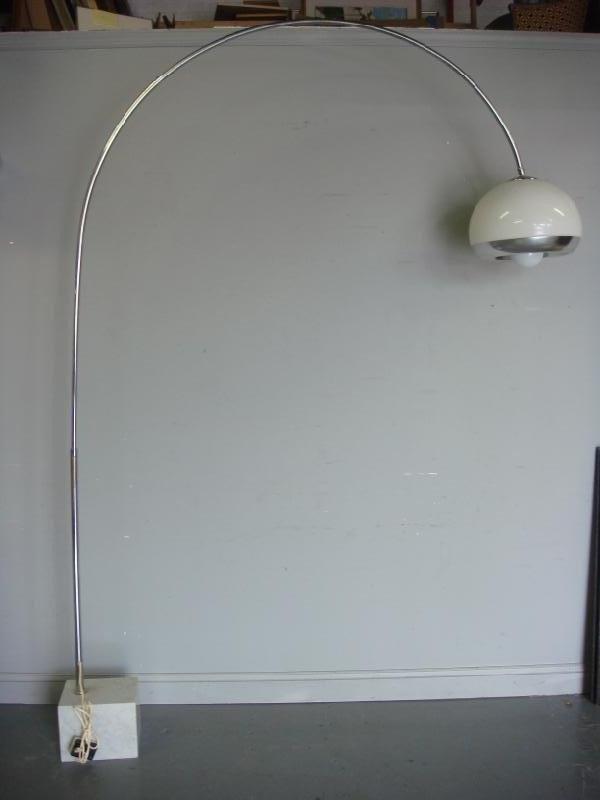 203: Large Midcentury Arteluce Style Lamp with Marble