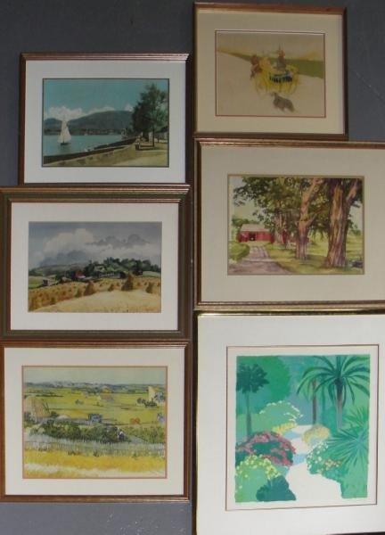 8: 6 Framed Prints.