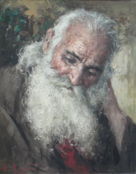 11: AMATO, Luigi. O/C Portrait of an Old Man.