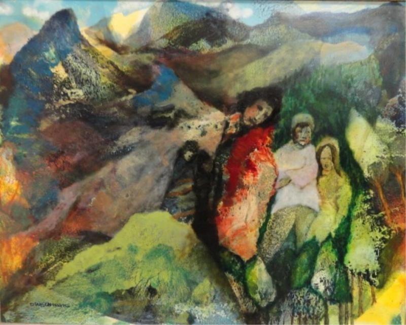 18: WEICHMAN, D. O/C Figures in Landscape.