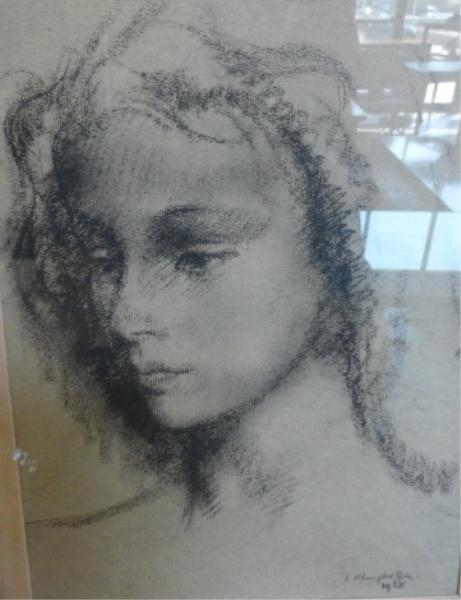 23: KLINGHOFEL. 1938 Drawing of a Beauty.