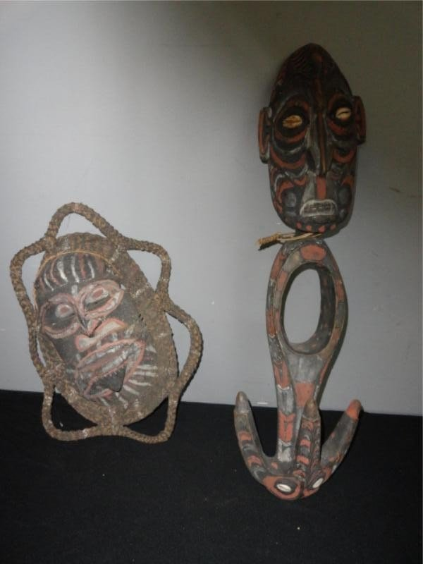 2: Two New Guinea Painted Items.