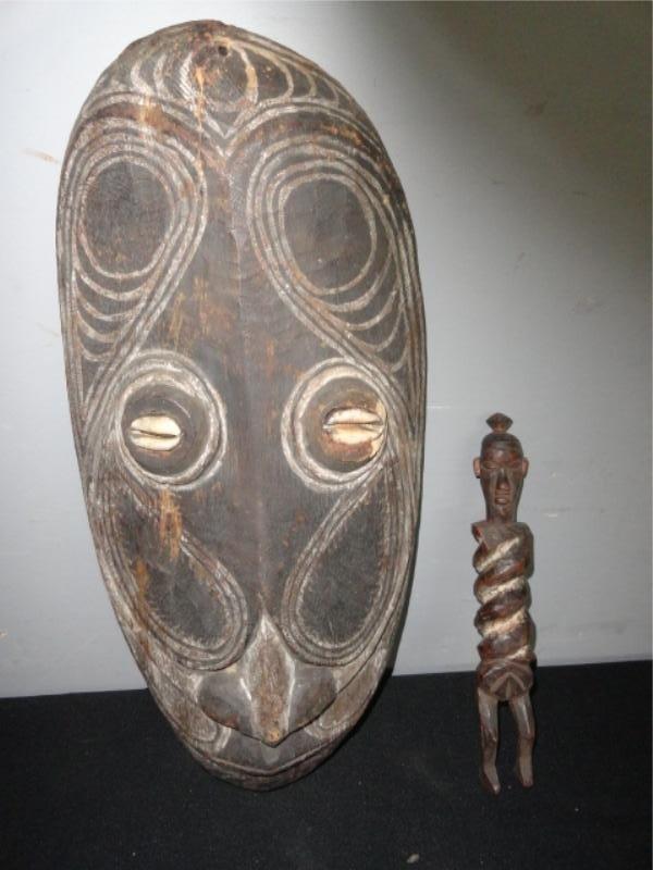 3: New Guinea Mask & Figure.
