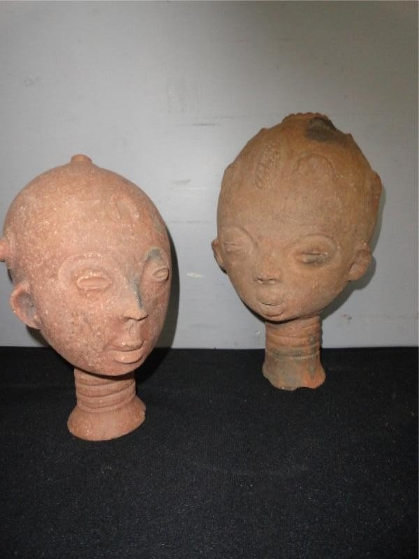 9: Two Terracotta African Busts.