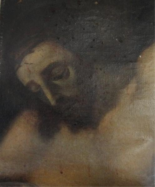 13: Old Master Oil on Canvas. Head of Christ.