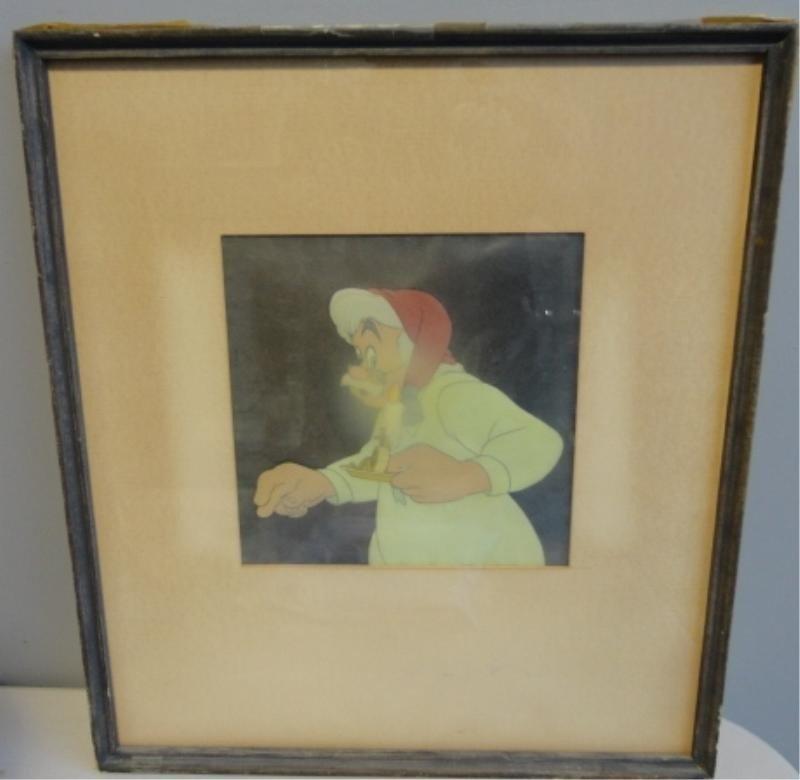 "15: Original Disney Cell. Pinocchio ""Geppetto"" Image."