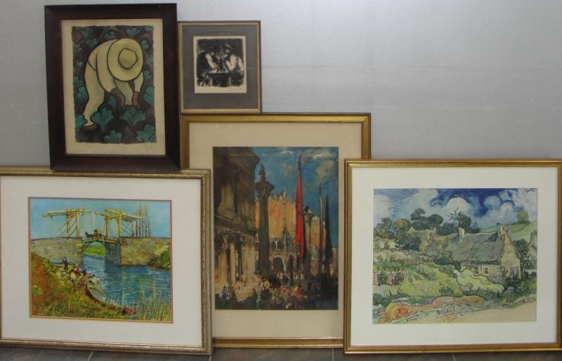 17: Lot of 5 Assorted Prints.