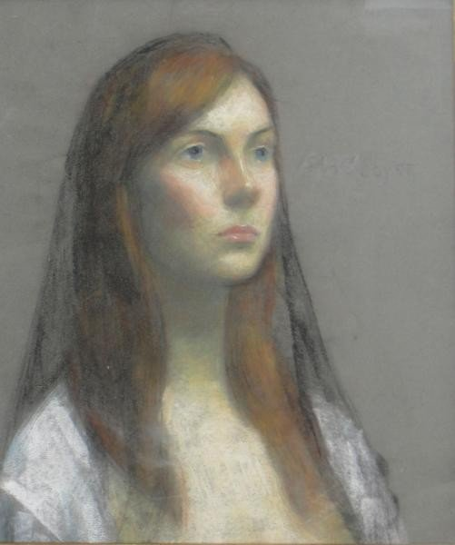 22: SOYER, Iassac. Pastel Portrait of a Beauty.