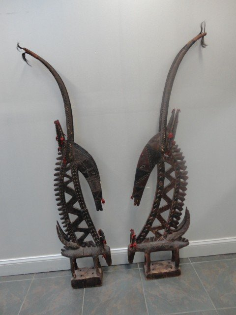 10A: Pair of African Chiwara Carvings.