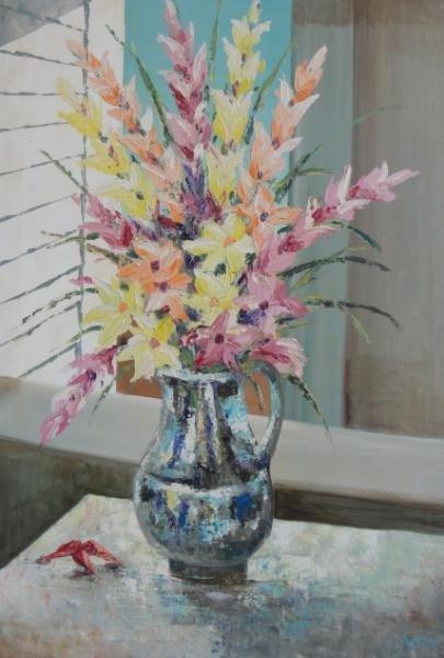 3: Signed O/C Floral Still Life.