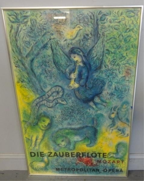 5: After CHAGALL. Magic Flute Lithograph by Charles