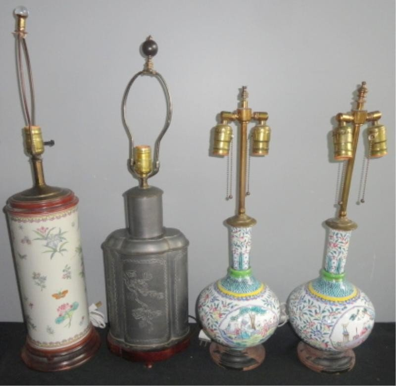 19: Lot of 4 Asian Lamps.