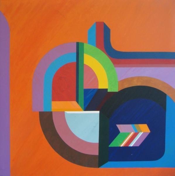 """45: SAKAI, Kazuya. 1973 Geometric O/C """"Ciculos."""""""
